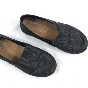Toms | Black Glitter Slip on Sneakers